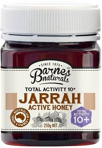 Barnes Naturals Active Jarrah Honey TA10+ 250g Jar