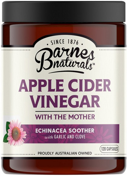 Barnes Naturals Apple Cider Vinegar Echinacea Capsules 120's