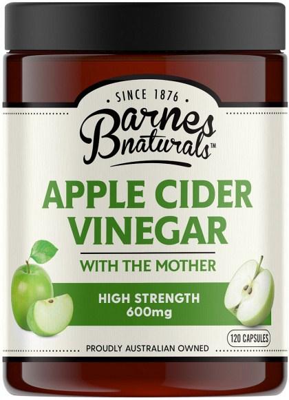 Barnes Naturals Apple Cider Vinegar High Strength 600mg Capsules 120's