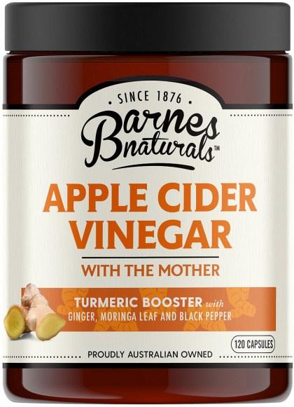 Barnes Naturals Apple Cider Vinegar Tumeric Boost Capsules 120's