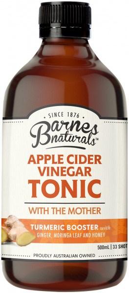 Barnes Naturals Apple Cider Vinegar Tumeric Boost Tonic 500ml