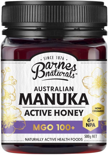 Barnes Naturals Australian Active Manuka Honey MGO 100+ 500g