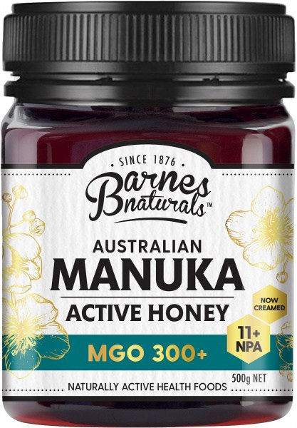 Barnes Naturals Australian Active Manuka Honey MGO 300+ 500g