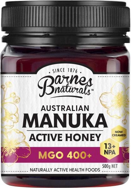 Barnes Naturals Australian Active Manuka Honey MGO 400+ 500g