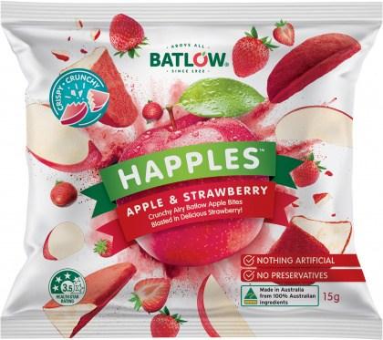 Batlow Happles Apple & Strawberry  10x15g