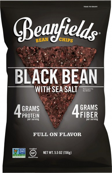 Beanfields Bean Chips Black Bean w/Sea Salt  6x156g