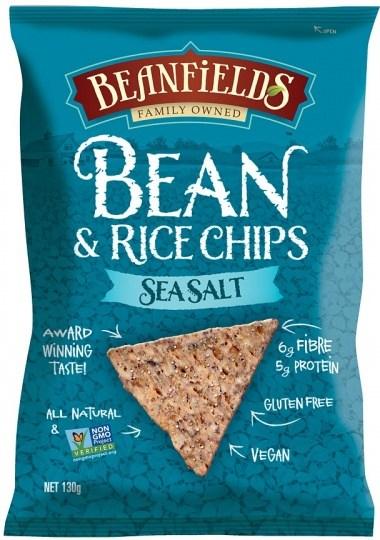 Beanfields Sea Salt Bean & Rice Chips  130g