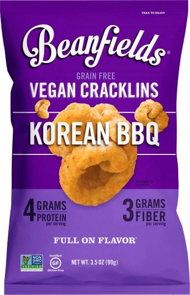 Beanfields Vegan Cracklins Korean BBQ  6x99g