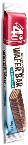 Better 4U Belgian Chocolate Wafer Bar (No Sugar) 30g