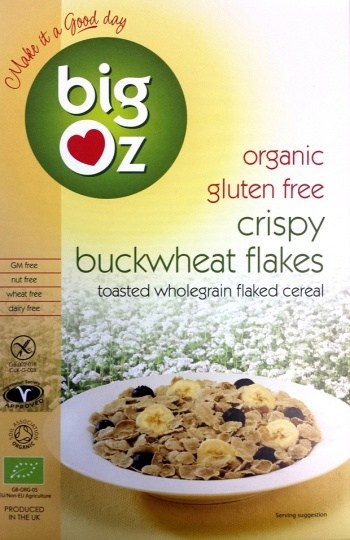 Big Oz Organic Crispy Buckwheat Flakes  350g