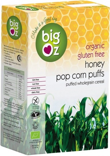 Big Oz Organic Honey Pop Corn Puffs  250g
