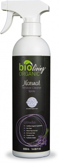 Bio Living Organic Natural Window Cleaner Spray Lavender 500mL