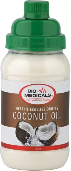 Bio-Medicals Organic Tasteless Cooking Coconut Oil 700ml