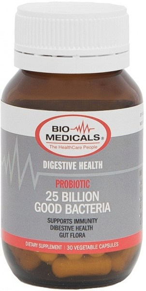 Bio-Medicals Probiotic 25 Billion Good Bacteria 30caps