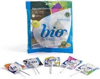 Bio Moments Organic Candy Lollipops (Flat)  (Bag) 48g