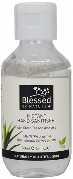 Blessed By Nature Hand Sanitiser Cap Bottle 50ml