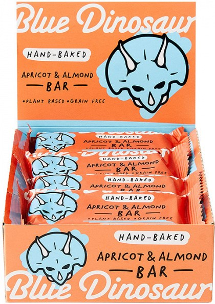 Blue Dinosaur Apricot and Almond Bars 12x45g