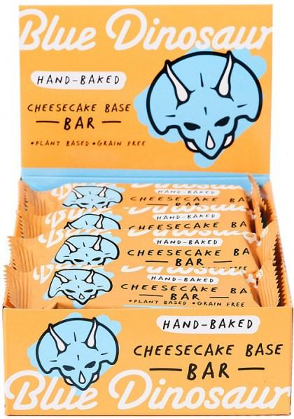 Blue Dinosaur Cheescake Base Bars 12x45g