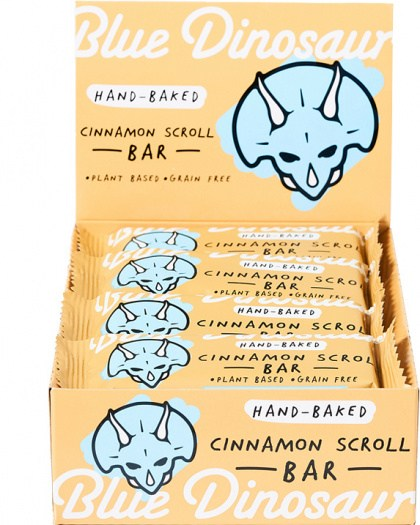 Blue Dinosaur Cinnamon Scroll Bars 12x45g