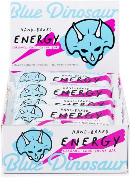 Blue Dinosaur Energy Bars Caramel Choc Chunk  12x45g