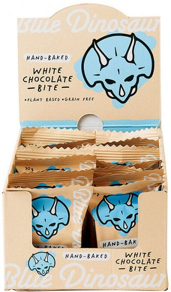 Blue Dinosaur White Chocolate Bites 18x30g