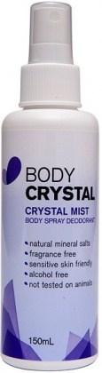 Body Crystal Mist  Fragrance Free 150ml