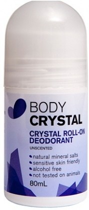 Body Crystal Roll On Deodorant Unscented 80ml