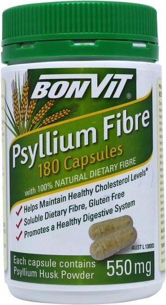 Bonvit Psyllium Fibre Capsules 180 x 550mg