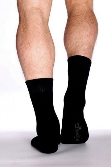 Boody Organic Bamboo Mens Work / Boot Socks Black