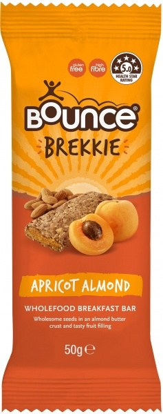 Bounce Brekkie Apricot Almond Bars  12x50g