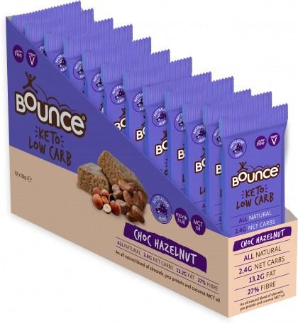 Bounce Keto Low Carb Choc Hazelnut Bars  12x35g