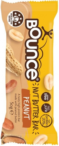 Bounce Nut Butter Bars Peanut 12x50g