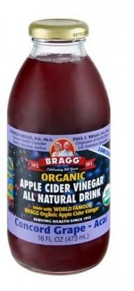 Bragg Organic Apple Cider Vinegar Drink Concord Grape & Acai 473ml