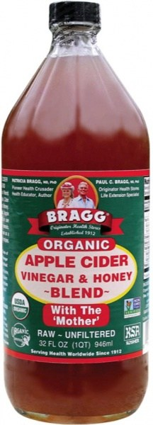 Bragg Organic Apple Cider Vinegar & Honey with The Mother 946ml
