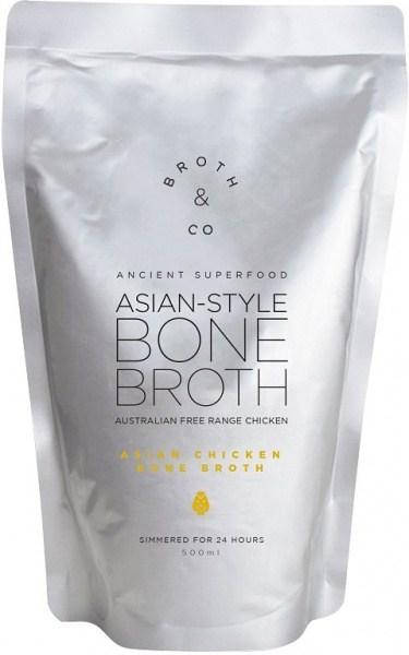 Broth & Co Asian Chicken Bone Broth Liquid Free Range 500ml