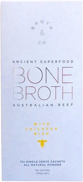 Broth & Co Australian Beef Bone Broth & Miso Powder 5g Sachets (Box of 12) 60g
