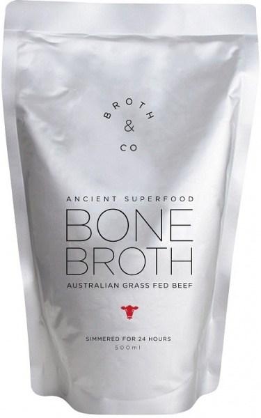 Broth & Co Australian Grass Fed Beef Bone Broth 500ml Pouch
