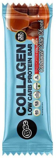 BSc Collagen Protein Bars Caramel Choc Chunk 12x60g