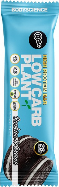 BSC High Protein Low Carb Plant Bars Cookies & Cream 12x45g
