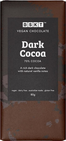 BSKT Vegan Chocolate Slab Dark Cacao 80g