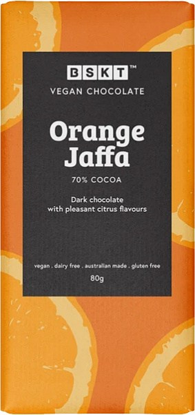 BSKT Vegan Chocolate Slab Orange Jaffa 80g