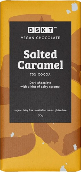 BSKT Vegan Chocolate Slab Salted Caramel 80g