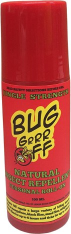 Bug-Grrr Off Natural Insect Repellent, Jungle Strength Roll-On 100ml