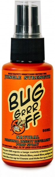 Bug-Grrr Off Natural Insect Repellent, Jungle Strength Spray 50ml