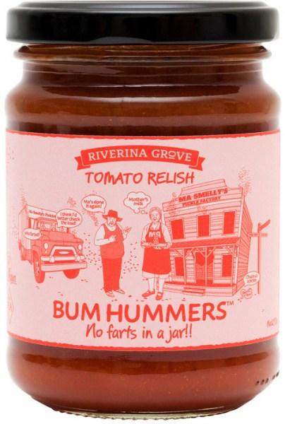 Riverina Grove Bum Hummers Tomato Relish  250g