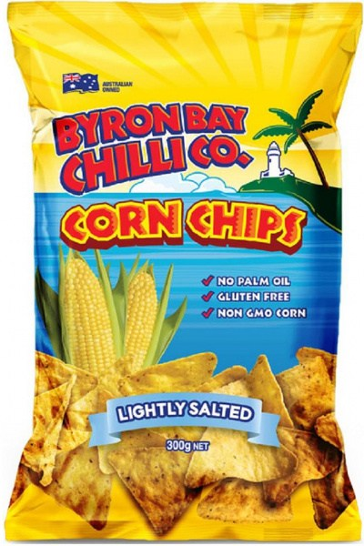 Byron Bay Chilli Lightly Salted Cornchips  9x300g