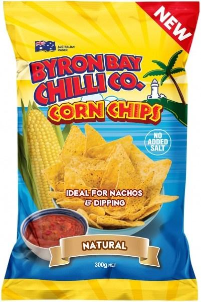Byron Bay Chilli Natural Cornchips  300g