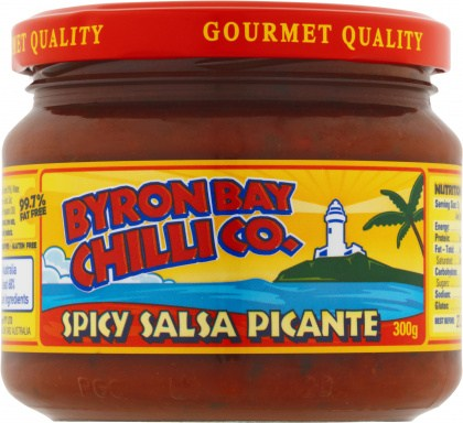 Byron Bay Chilli Spicy/Med Salsa Picante 300g