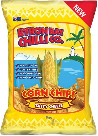 Byron Bay Chilli Tasty Cheese Cornchips  12x175g