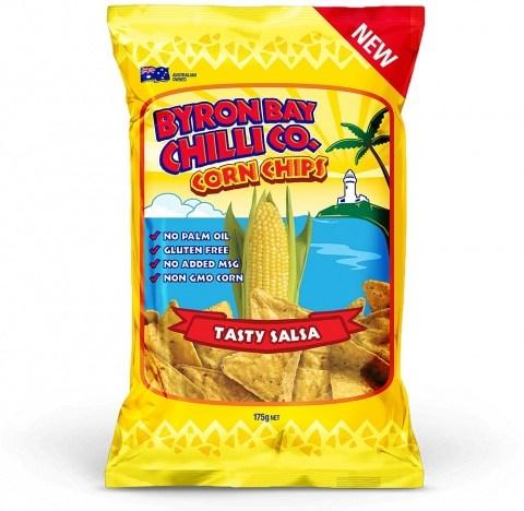 Byron Bay Chilli Tasty Salsa Cornchips  12x175g Jan22